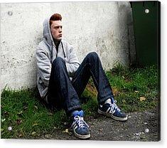 Depressed Teenager Acrylic Print