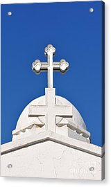 Dome Of Agios Georgios Chapel Acrylic Print by George Atsametakis