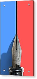 Drawing The Line Acrylic Print by Allan Swart