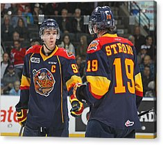 Erie Otters V London Knights Acrylic Print by Claus Andersen