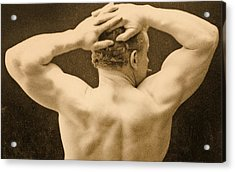 Eugen Sandow Acrylic Print by George Steckel