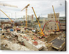 Expansion Work At Oslo Airport In Norway Acrylic Print by Ashley Cooper