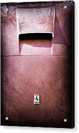 Ferrari Hood Emblem Acrylic Print by Jill Reger