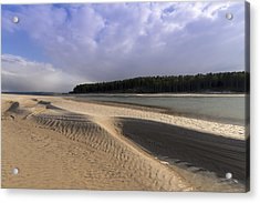 Findhorn Bay Acrylic Print by Karl Normington