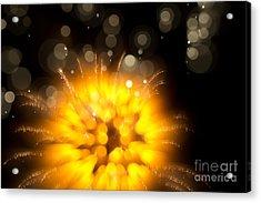 Fireworks Art Acrylic Print by Benjamin Simeneta