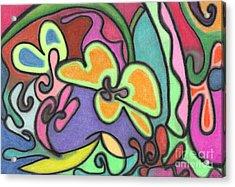 Fluid Flowers Acrylic Print