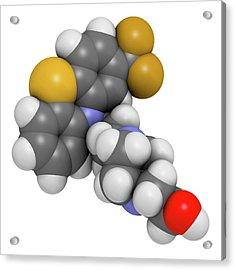 Fluphenazine Antipsychotic Drug Molecule Acrylic Print by Molekuul