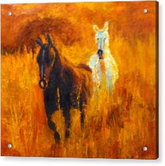 Acrylic Print featuring the painting Follow Me by Marie Hamby
