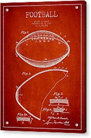 Football Patent Drawing From 1939 Acrylic Print by Aged Pixel