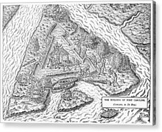 Fort Caroline, 1564 Acrylic Print by Granger