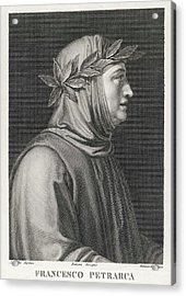 Francesco Petrarch  Italian Poet Acrylic Print by Mary Evans Picture Library