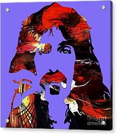 Frank Zappa Collection Acrylic Print by Marvin Blaine