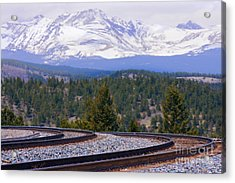 Freight On The Divide Acrylic Print