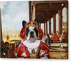 French Bulldog Art Canvas Print Acrylic Print
