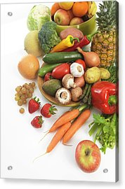 Fruit And Vegetables Acrylic Print by Tek Image
