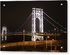 George Washington Bridge On President's Day Acrylic Print