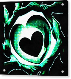 Get Connected At Heart Acrylic Print