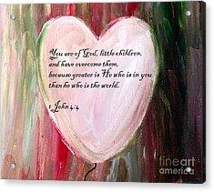 God Is Love Acrylic Print