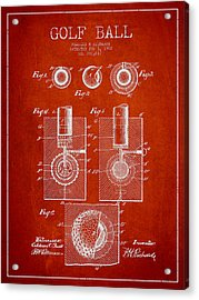 Golf Ball Patent Drawing From 1902 Acrylic Print by Aged Pixel