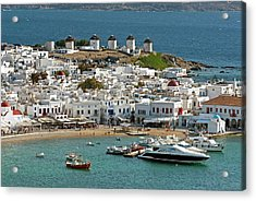 Greece, Mykonos, Chora Acrylic Print