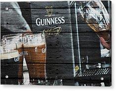 Guinness Acrylic Print by Joe Hamilton