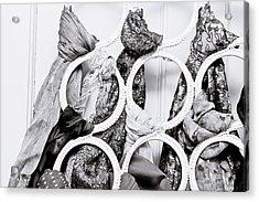 Hanging Scarfs Acrylic Print by Tom Gowanlock