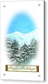 Happy Holidays. Best Christmas Gift Acrylic Print