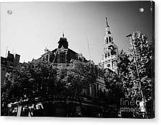 headquarters of the fire department of Santiago Chile Acrylic Print by Joe Fox