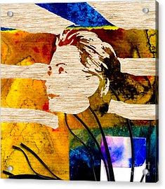 Hillary Clinton Acrylic Print by Marvin Blaine