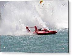 Hydroplane Racing Acrylic Print by Jim West