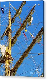 I Thought I Saw Three Sailing Ships Three Sailing Ships Early In The Morn N Acrylic Print by Michael Hoard