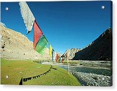 India, Ladakh, Markha Valley, Scenic Acrylic Print by Anthony Asael