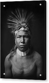 Indian Of North America Circa 1905 Acrylic Print by Aged Pixel