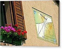 Italian Sundial Acrylic Print by Babak Tafreshi/science Photo Library