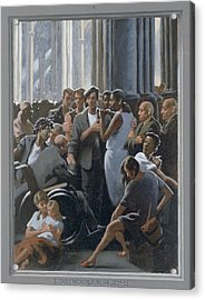 4. Jesus Preaches In The Temple / From The Passion Of Christ - A Gay Vision Acrylic Print by Douglas Blanchard