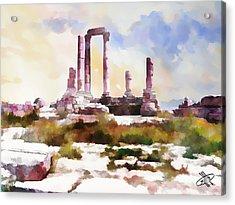 Jordan/amman/citadel Acrylic Print by Fayez Alshrouf