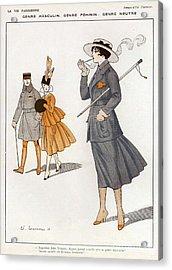 La Vie Parisienne  1916 1910s France Cc Acrylic Print by The Advertising Archives
