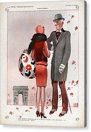 La Vie Parisienne  1928 1920s France Cc Acrylic Print by The Advertising Archives