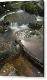 Landscape Of Becky Falls Waterfall In Dartmoor National Park Eng Acrylic Print