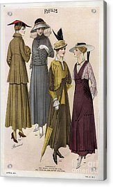 Le Costume Royal 1915 1910s Usa  Cc Acrylic Print by The Advertising Archives