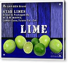 Lime Farm Acrylic Print by Marvin Blaine