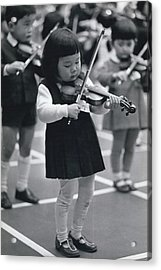 Little Fiddlers Make Big Music Acrylic Print by Retro Images Archive