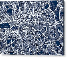 London England Street Map Acrylic Print
