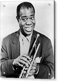 Louis Armstrong (1900-1971) Acrylic Print by Granger