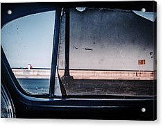 Malecon Acrylic Print by Andreas Bauer