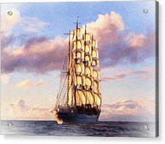 4 Mast Barque Acrylic Print
