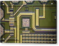 Microchip Surface Acrylic Print by Frank Fox