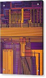Microprocessor Components Acrylic Print by Antonio Romero