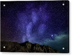 Milky Way Galaxy With Aurora Borealis Acrylic Print by Panoramic Images