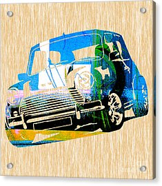 Mini Cooper Acrylic Print by Marvin Blaine